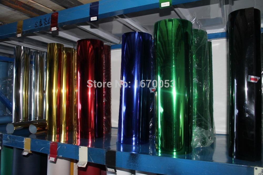 6 Yards Metal light Mirror Finish PET Transfer Vinyl Filme Free DHL or UPS(China (Mainland))