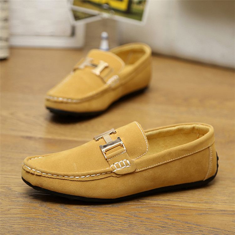 2015 Hot Men Genuine Leather Fashion Sneakers Casual breathable driving Shoes Mens slip-on Flats Doug Loafers moccasin gommino(China (Mainland))