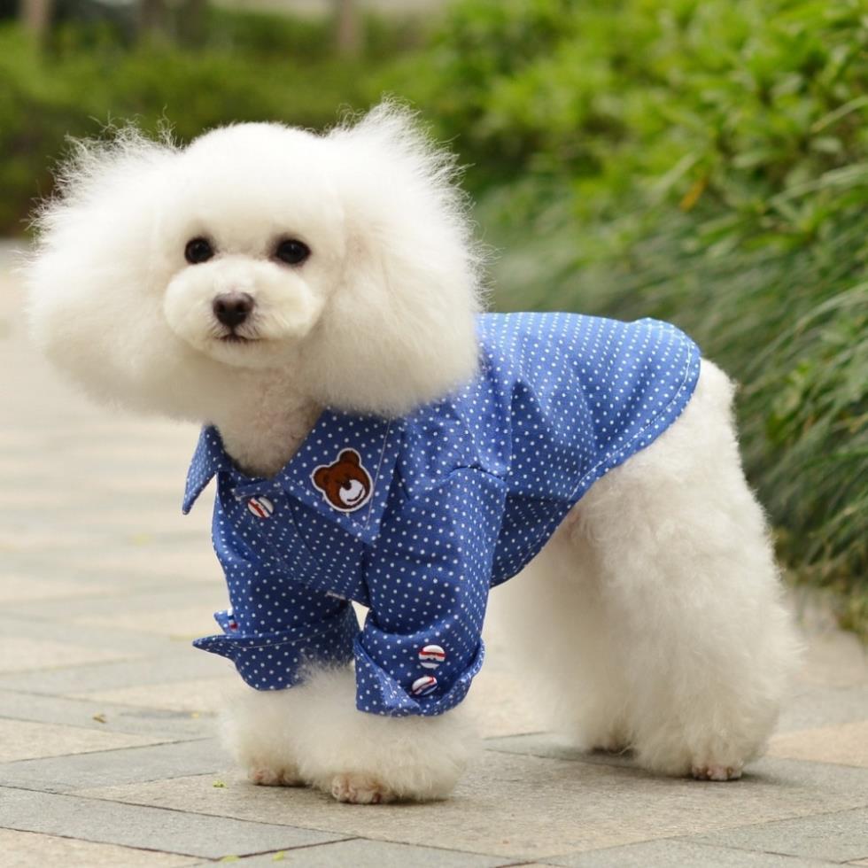 Pet Plaids T Shirt Dog Puppy Top Jacket Clothes Sweatshirt Costume Lapel Coat Free Shipping(China (Mainland))