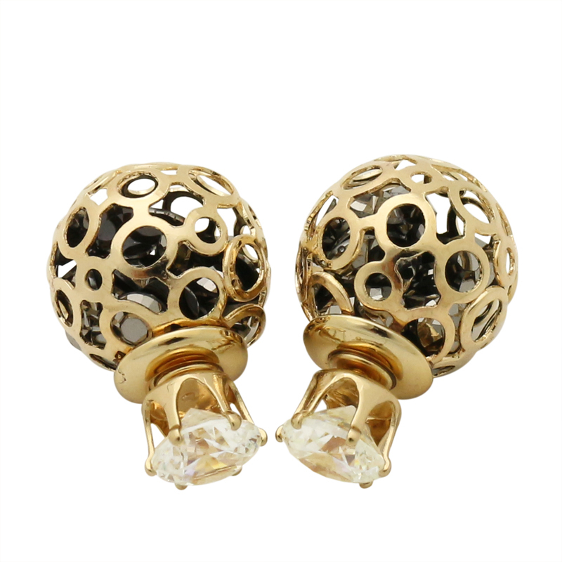 GUST Brand New Fashion High Quality Pierced Elegant Crack Round RED Ball Stud Earrings Eardrop Crystal Earring Woman Girl E259(China (Mainland))