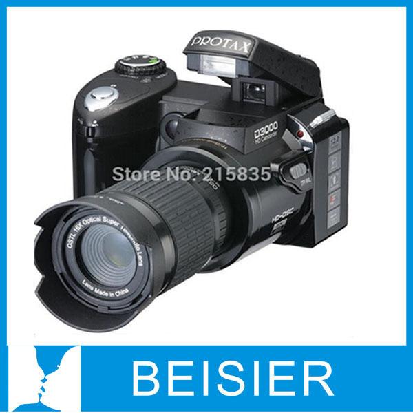 "Free Shipping New types D3000 HD Digital SLR Camera Photos 16MP3.0 ""LTPS Screen, +16 Times Telephoto Lens +Wide Angle Lens(China (Mainland))"