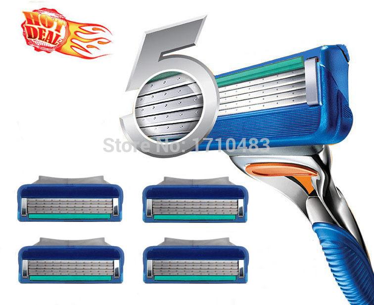New brand 8pcs/lot Fusione Proglide Power 5 Men's Razor Blades High Quality Blade Grade AAA+ Standard for RU&Euro&US(China (Mainland))