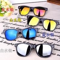 1 pair New Vintage Summer Sunglasses Mirror Lense Sun Glasses UV 400 Protection Sunglasses Men Women Eyewear