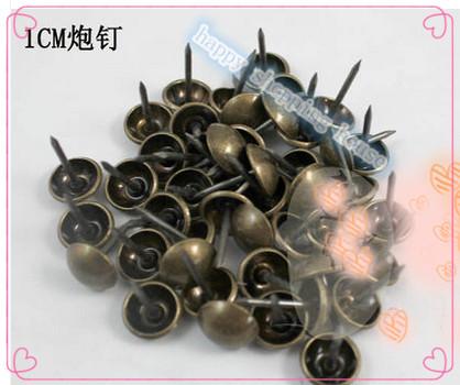 Furniture accessories vintage sofa nails pure Tonggu copper nails bronze diametre 1CM decorative nail A3(China (Mainland))
