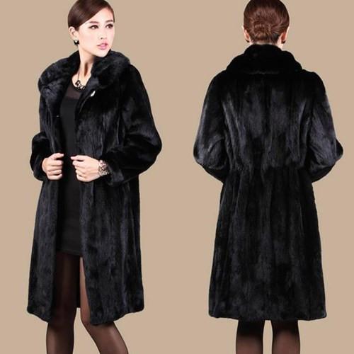 anti-Season clearance price Women winter long coat full Marten overcoat long outerwear plus size real natural fur mink coat(China (Mainland))