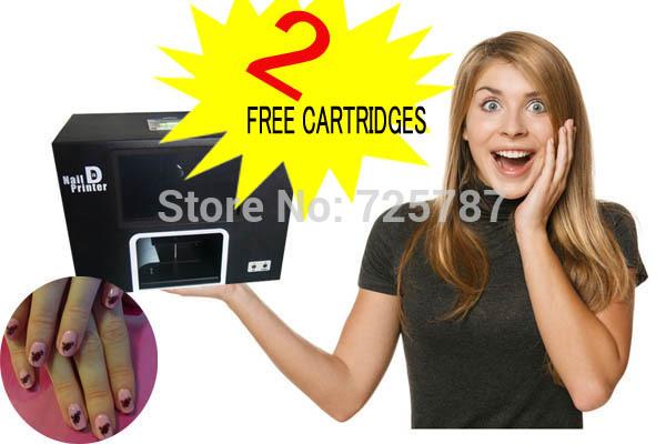 2014 most popular new updated Free shipping digital nail art printer machine any photos can print on nails(China (Mainland))