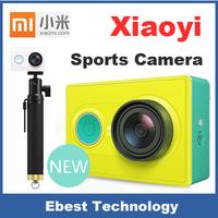 Original Xiaoyi Sports Camera Xiaomi Yi Action Camera 16MP 4608X3456 1920x1080p WIFI Bluetooth 4.0 Travel Version with Monopod
