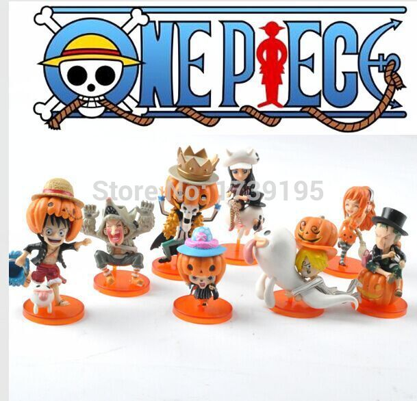 2015 retail 8pcs/set Anime One Piece mini action figures stikeez in Easter Monday(China (Mainland))
