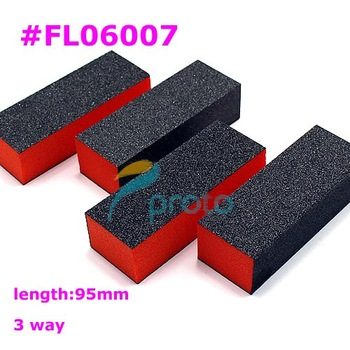 50PCS High quality 3 way BLACK block for buffing and sanding,DIY manicure nail art  SKU:G0017XX