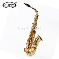 German bakelite mouthpiece Gold Lacquer Surface Bb Alto saxophone sax with case