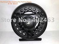 Top grade Aluminum Die Casting Fly Fishing Reels # 7/8  85mm  2Precision bearing + One-way bearing China Post Air Mail Ups Saver