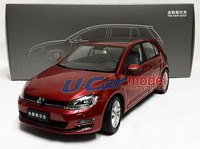 1pcs/ lot  1:18 China Faw Volkswagen GOLF 7  2013 Die-cast  Model Car(New arrival) Red