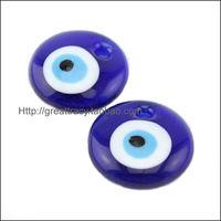 Turkish blue evil eye round D3cm pendant/ lucky eye/ glass material 10pcs/bag