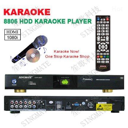 8806(#8) Hard device KTV Karaoke player HDMI,Support VOB/DAT/AVI/MPG/CDG/MP3+G songs,USB add songs ,KOD system ,songs encryption(China (Mainland))
