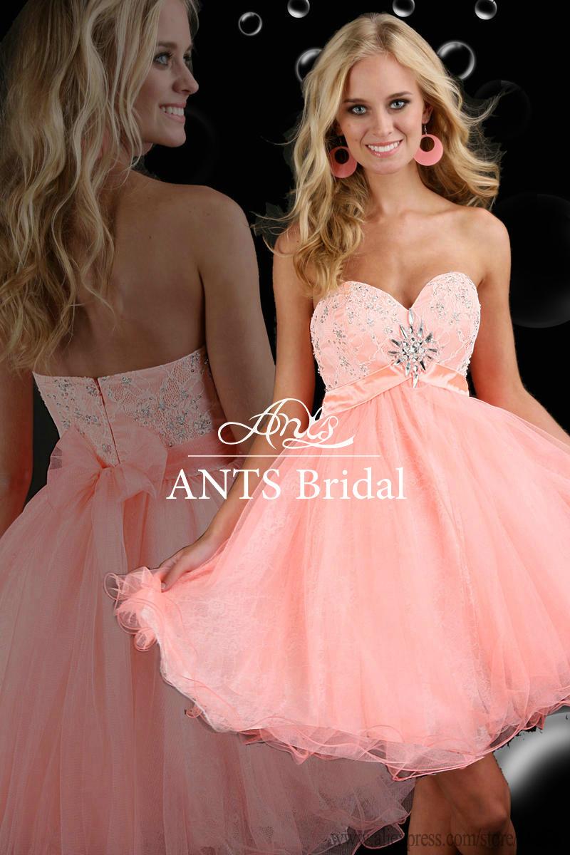 chers de l'épaule rose en dentelle de perles robe de graduation ...