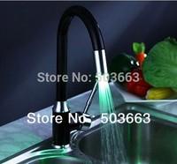 3 colors Painting kitchen sink mixer tap faucet led faucet vanity faucet b-054 Kitchen Faucets