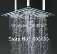 20''  faucet bathroom glass  shower head  b8133 glass led square shower head