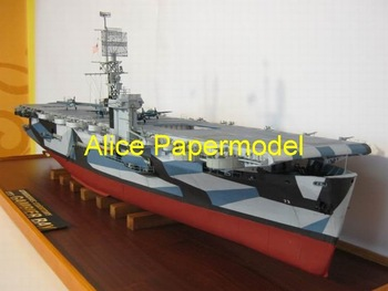 [Alice papermodel] Long 1.4 meter WWII US aircraft carrier battleship USS Gambier Bay models