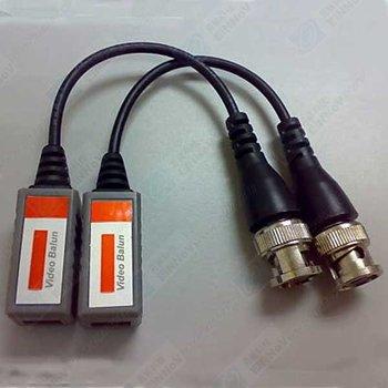 1 pairs BNC Network Cat5 Video Balun Transceiver D02