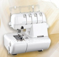 free shipping multi-function overlock sewing machine with 2/3/4 thread ornamenting edge+one year warranty