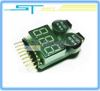 wholesale 10pcs Dual Speaker 1S-8S Battery Voltage Tester & Low Voltage Buzzer Alarm 2 IN 1 2S 3S 4S 5S 6S 7S 8S  supernova sale