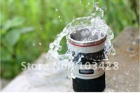 Freeshipping 1pcs/lot White 1:1 Lens  coffee Cup Mug Funny Cover Black Package Novelty Gift