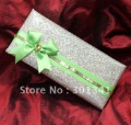 custom glittering wedding invitation with a handbag -- T067 with satin in bulk