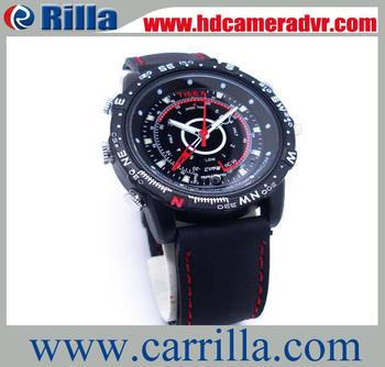 Free Shipping Hot Sale Hidden Camera Clock 4GB Waterproof Camera Watch Video(WR-05)