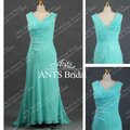 Modest Sleeveless Evening Real Beautiful Formal Dress Chiffon RE253