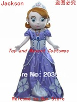 Deluxe Hot Sofia the First Mascot Costume Chrismas Costume