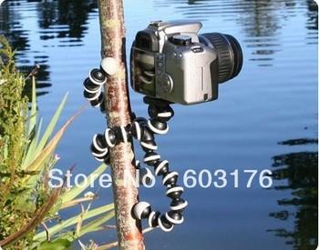 Free Shipping 2Pcs/Lot Digital Camera Mini Tripod Stand Spider Mount Holder 360' Rotational Tripus Flexible Tripod
