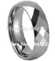 Mens Unique 6mm Multi Face Mirror Cut Tungsten Wedding Band Rings Sz 8#