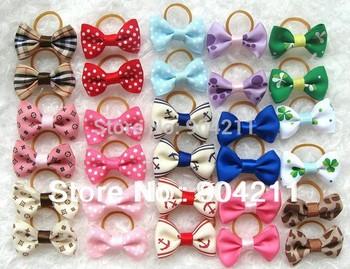 Hot sale! 15 designs, Lovable pet/dog head bowtie ornaments, pet hair cliper, hair clips & pins, 30pcs=15 pairs=1 lot