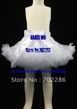 Wholesale xmas skirts solid white girls pettiskirts christmas gift baptism dress