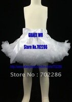 Wholesale xmas skirts solid white girls pettiskirts christmas gift baptism dress