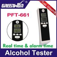 Free shipping White Professional Digital Alcohol Tester Timer Analyzer Breathalyzer Detector Dual LCD Display Gift
