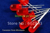 1000 PCS F5 5mm Red Diffused LED LEDS LAMPS Light DIODE