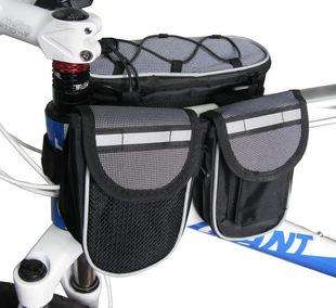 ROSWHEEL Bike Front Frame Tube Bag Outdoor Cycling Bicycle Bike Bag Handlebar Pannier + Rain Cover Free Shipping
