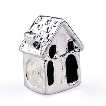 Minimum order $10 Free Shipping 1pc Alloy Bead Charm European Silver House Bead Fit BIAGI bracelets & bangles H165