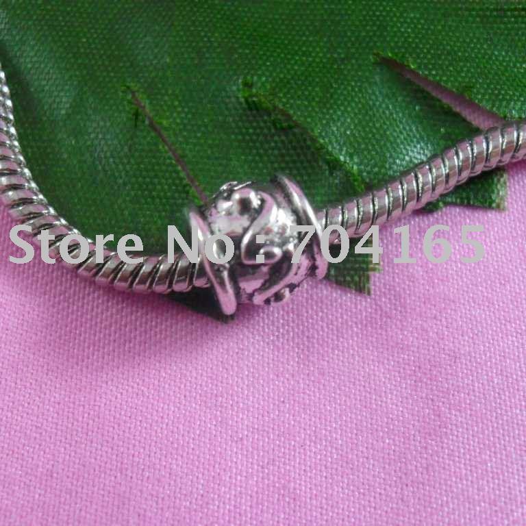 Grátis frete venda quente de prata tibetano toda grande beads fit pulseira HQSPL0001 100 pçs/lote(China (Mainland))