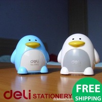 Wholesale:4 styles Cute Penguins shape pencil sharpener/lovely stationery/the best gift for friends.Free shipping!