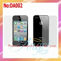10pcs/lot Front/Back Anti Glare Screen Protector For iPhone 4S With Retail Package+Free shipping #DA002