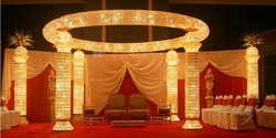 crown jewel pagoda 8 pillar new design wedding mandap(China (Mainland))