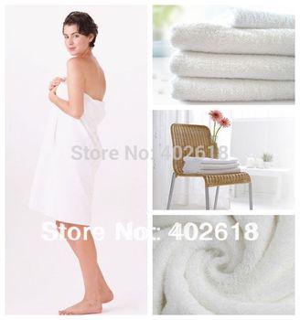 5PCS/Lot, Hot sale  Size 70x140cm, Grade A, Cotton towel, White color, Bath towel, Hotel towels, in stock