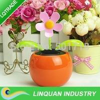 flip flap solar flower/8pcs lot solar swinging flower/novelty gift In-car furnishing articles/Car decoration