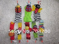 20pcs/lot- Multicolor colorful Baby Garden Bug Wrist Rattle/Foot Finder Set/Infant toys