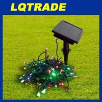 High-Q solar products & Low carbon Christmas/ 60Pcs Wholesale Price of Festival Decoration Lamp Color-blue/yellow/green/red