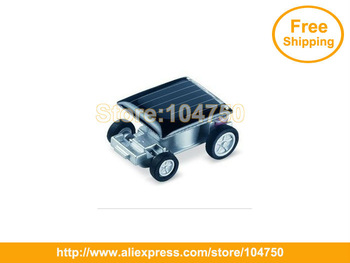 China post free shipping! wholesale 100pcs/lot world smallest solar powered car toy,solar energy car