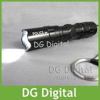 wholesale 10pcs/lot portable waterproof  LED Flashlight Police high brightness LED torch + Free Shipping