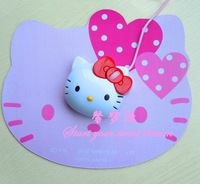 Free Shipping Lovely Cute Gift Hello Kitty Wired Mouse USB 3D Optical Mice For PC Computer Laptop Desktop 1200DPI